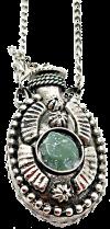 Аромакулон металлический с камнем